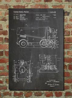 Zamboni Ice Resurfacing Patent Wall Art Poster by PatentPrints, $6.99