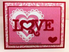 Obsessed with Scrapbooking: My Creative Time Valentine Stamp and Die GIVEAWAY!
