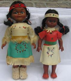 2 Vintage Native American Dolls From 1970s by VictorianWardrobe, $19.99