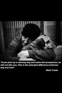Mark Twain. Dogs vs. Humanature