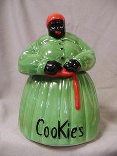 Vintage Cookie Jar   Sweet...I love the green dress.