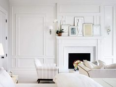mantel + moulding via desire to inspire