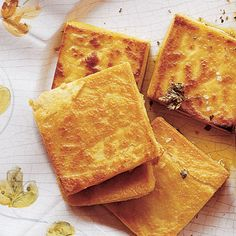 Panelle ( Fried Chickpea Polenta ) is a popular street food in Palermo.  One of my Mother's Favorite!
