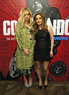 Lisa Marie Presley and Riley Keough made a rare public appearance together in West Hollywood last night (April 27)