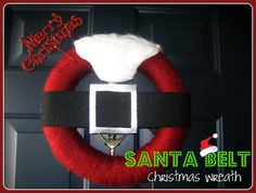 Santa Belt Wreath - The Cards We Drew