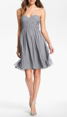 Strapless party dress for New Year's Eve!