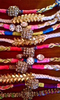 DIY Bracelets, better than braiding or not tying the whole thing and their cuter.
