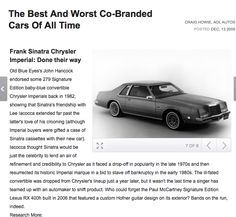 Co-branding fiasco - 1981 Chrysler Imperial - Blue eyes didn't want his name associated with the car after all the fuel injection blunders