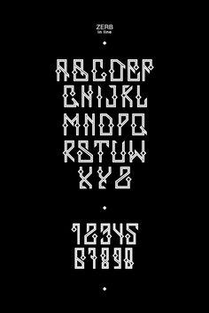 ZERB - free font