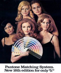 This Pantone ad is from the '70s. REPIN if you dig it!  #Golden50 #pantone