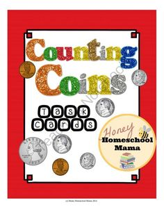 Counting Coins Task Cards - Have Students Practice Counting Change!  from HoneyHomeschoolMama on TeachersNotebook.com -  (20 pages)  - These task cards make it easy to have your student practice counting change without the same old worksheets over and over again. Play Scoot, put them in a center, or have students work on just one!