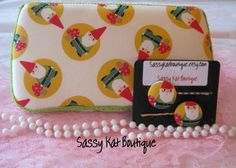 Case with matching hair clips Gnome by Sassykatboutique on Etsy, $19.99