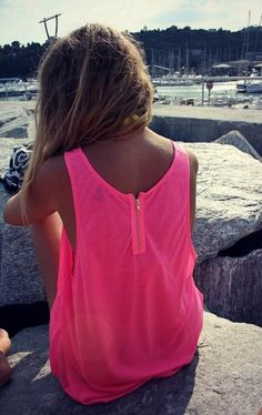Pink Tank Dress Cover Up