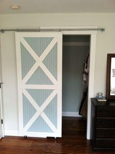 DIY sliding closet doors