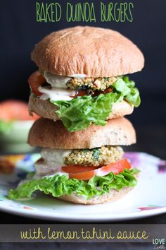 Baked Quinoa Burgers | Love and Lentils