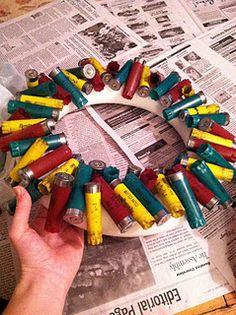 Definately redneck!!! Bebe'!!! A redneck wreath of shotgun shells!!!