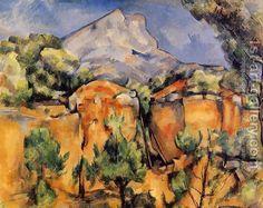 cezanne scene mont sainte victoire seen from bibemus quarry - Google Search