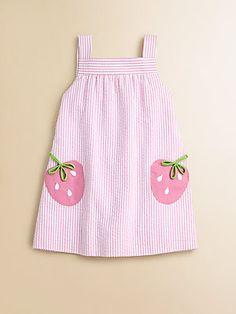 Florence Eiseman Toddler's & Little Girl's Seersucker Strawberry Dress