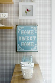 home sweet home sign by Laura Ashley