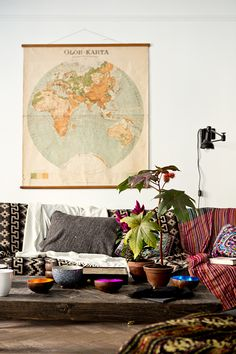 Sweden Apartment. Love the map