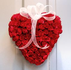 rose heart, red roses