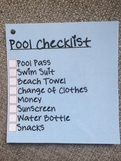 Keep Your Summer Beach/Pool Bags Organized with a Checklist - Chaos to Order -