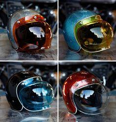 NOS Retro Gran-Prix Bubble Shields | for Biltwell & Joe King Helmets