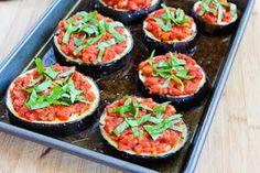 for Julia Child's Eggplant Pizzas (Tranches d'aubergine á l'itali...