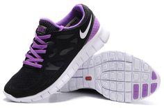 Nike Free Run+ 2 Black Purple Shoes