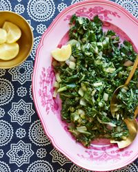 Swiss Chard with Ginger and Cumin Recipe on Food & Wine  .... Sounds delish!