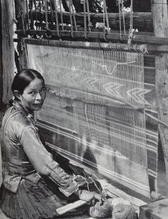Navajo Woman at Loom