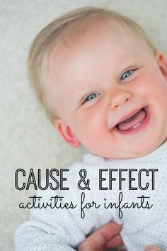 You will love these 15 cause and effect activities for infants!  These activities will help break up your day with your little one.