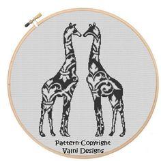 CR0032Giraffe  PDF Instant Download Cross Stitch by ValniDesigns, $4.00