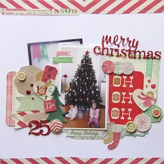 Merry christmas 25 - Scrapbook.com - Made with Crate Paper supplies.