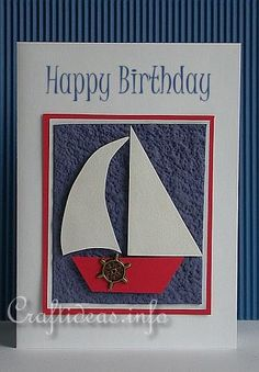 Summer Card - Sailboat Card for Men