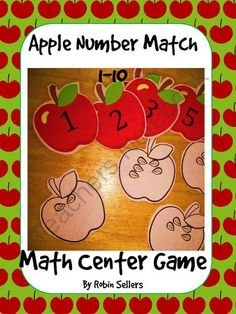 Apple match math center game common core K.cc.b.4.a