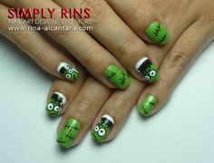 Frankenstein Nails - Cute!