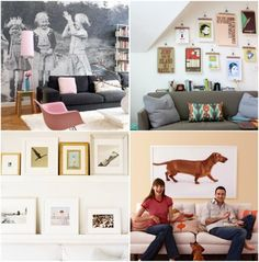 20 cool ways to display photos interior design, living rooms, exterior homes, photo walls, design interiors, wallpapers, pink, design studios, accent walls