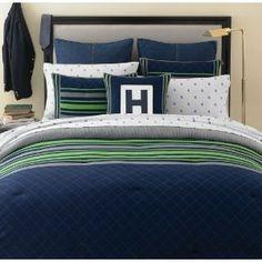 Katelyn 39 s bedding on pinterest - Navy blue and green bedding ...
