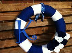 Kentucky Wildcats wreath!    facebook.com/copelandcrafts