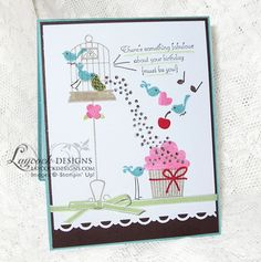 SU! Aviary and Create a Cupcake stamp sets - Michelle Laycock