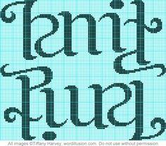 """Knit"" & ""Purl"" Ambigram Chart | Flickr - Photo Sharing!"