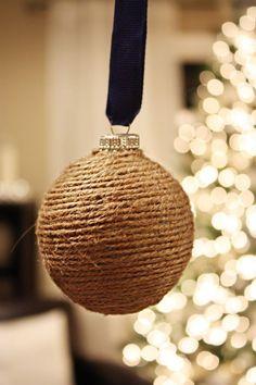 ball, ribbon, bulb, homemade ornaments, diy ornaments, country christmas, rustic christmas, christmas trees, diy christmas ornaments