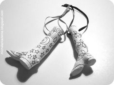 Diy Stylish Twig Boots Ornament - Tutorial