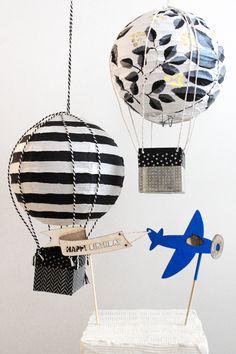 DIY hot air balloon decor//