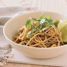 red curry peanut noodles
