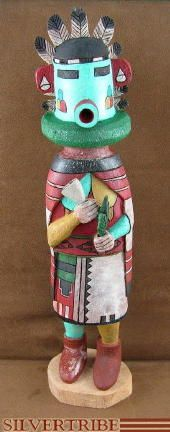 Hopi Morning Singer or Talavai Kachina Doll by artist Merwin Bilagody