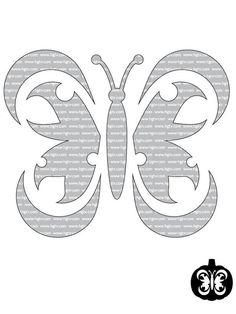Butterfly - Advanced Halloween Pumpkin-Carving Templates on HGTV