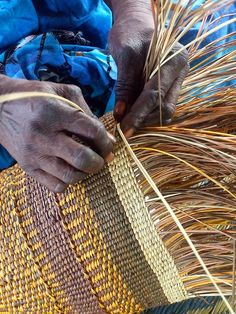 Pandanus Basket Weaving