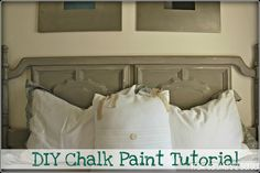 Make your own Chalk paint, no priming required